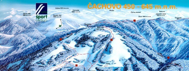 Trail Map Cachovo Selce