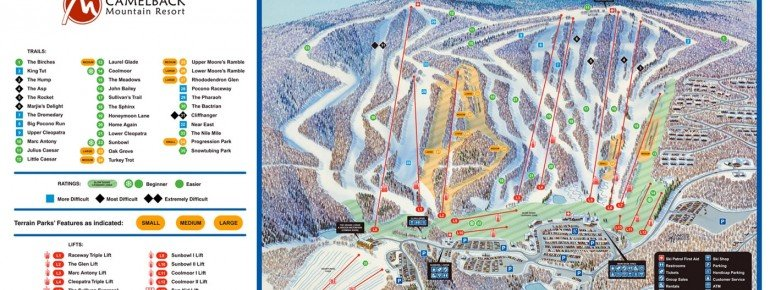 Trail Map Camelback Ski Area
