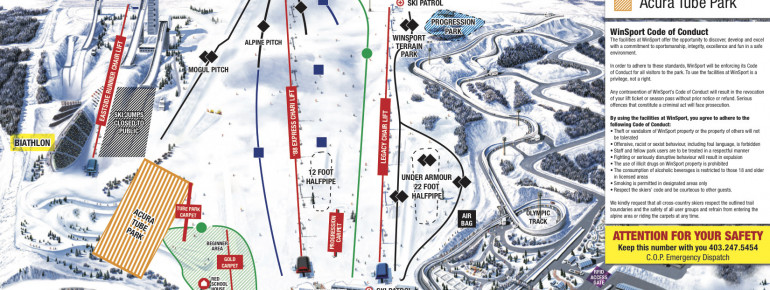 Trail Map Winsport - Canada Olympic Park Calgary