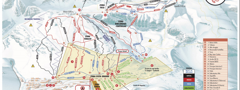 Trail map Candanchu