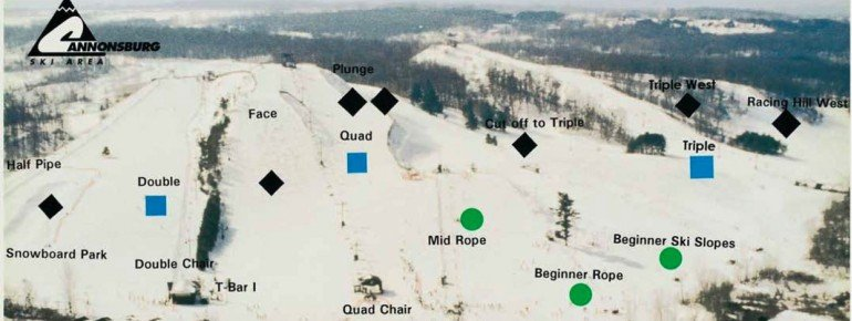 Trail Map Cannonsburg Ski Area