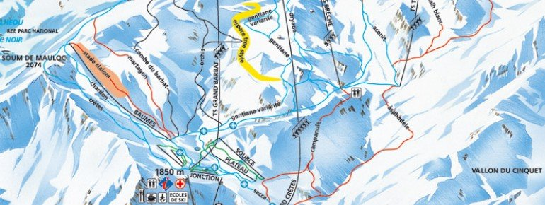 Trail Map Cauterets