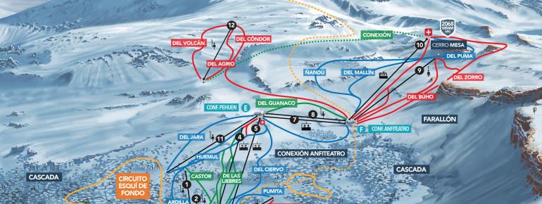 Trail Map Caviahue