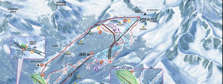 Trail Map Ceillac