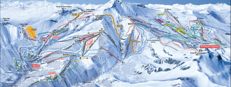 Trail Map Valmorel (Le Grand Domaine)