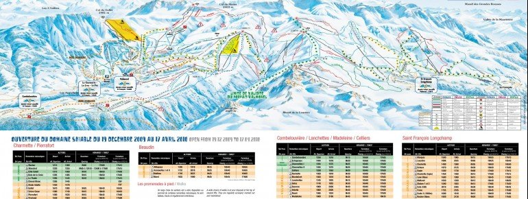 Trail Map Cellier Valmorel