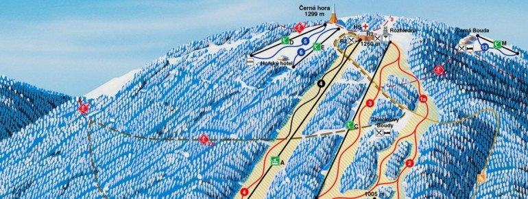 Trail Map Cerna Hora