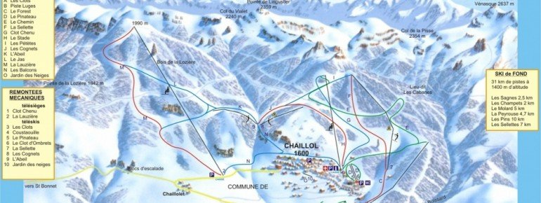 Trail Map Chaillol