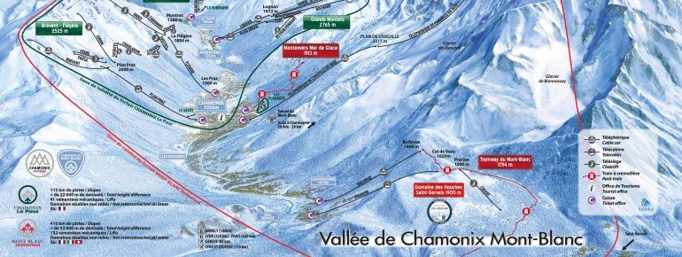 Trail Map Chamonix Mont Blanc