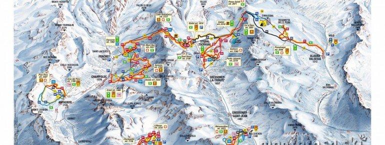 Trail Map Champoluc Frachey