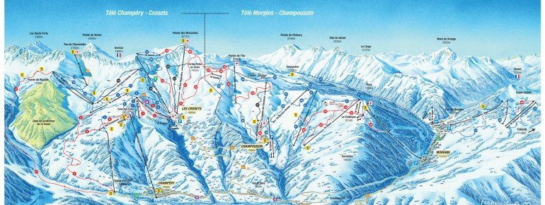 Trail Map Champoussin