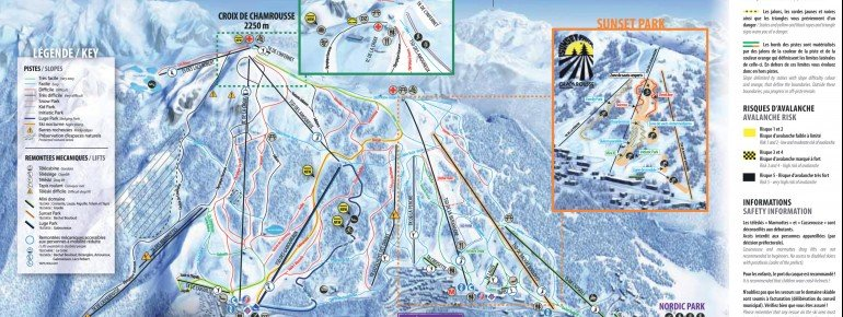 Trail Map Chamrousse