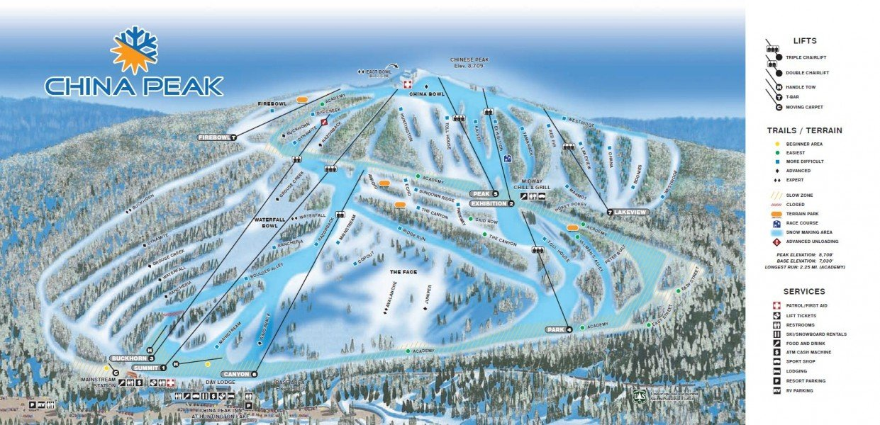 This is a list of ski areas and resorts in the United States. It is restricted to lift-served alpine ski areas, both public and private.
