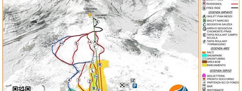Trail Map Chiomonte Frais