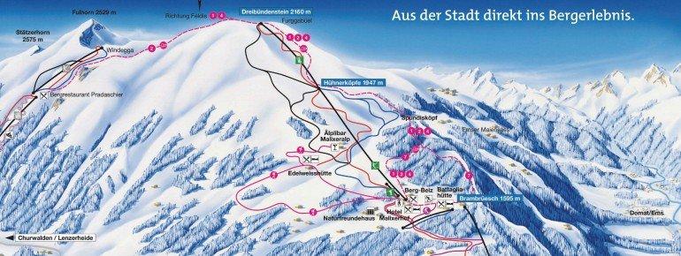 Trail Map Chur Brambrüesch