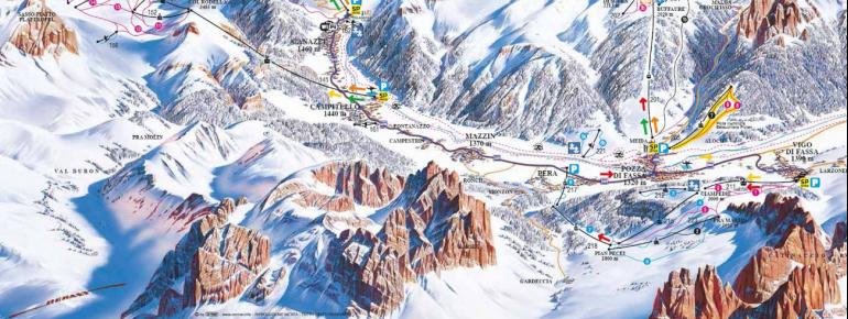 Trail Map Vigo di Fassa – Catanaccio – Ciampedie