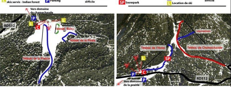 Trail Map Col de Porte