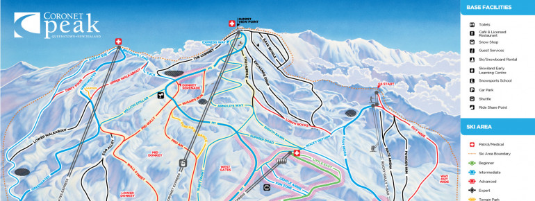 Trail Map Coronet Peak