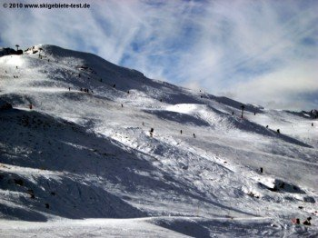 """View of terrain at the """"Rocky Gully"""" t-bar."""