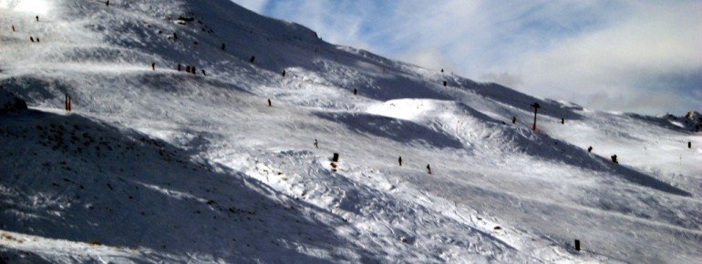 "View of terrain at the ""Rocky Gully"" t-bar."