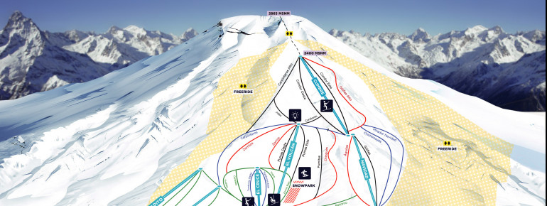Trail Map Corralco Mountain Resort