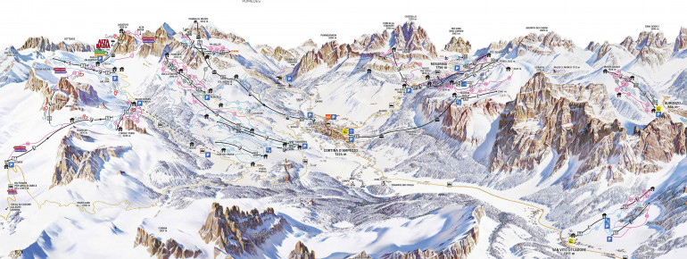 Trail Map Cortina d'Ampezzo