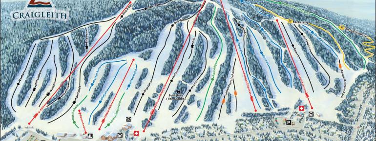 Trail Map Craigleith Ski Club