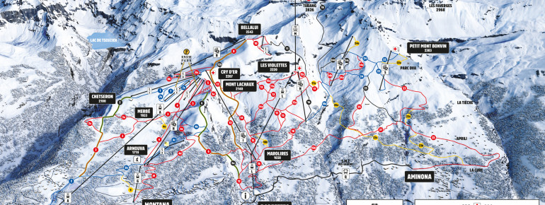 Trail Map Crans Montana