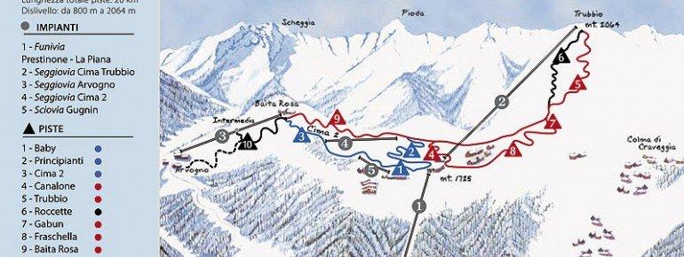 Trail Map Craveggia Piana di Vigezzo