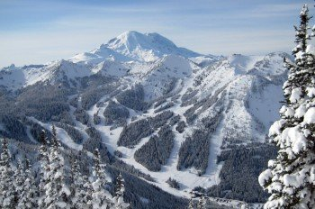 Crystal Mountain is located in the mountains of Washington.