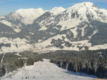The run down to Russbach is the longest at Dachstein West.