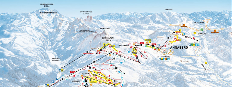 Trail Map Dachstein West