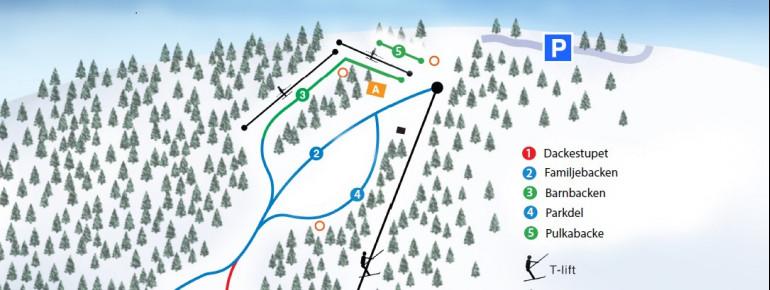 Trail Map Dackestupet