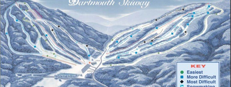 Trail Map Dartmouth Skiway