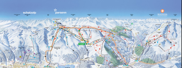 Trail Map Davos Klosters Mountains
