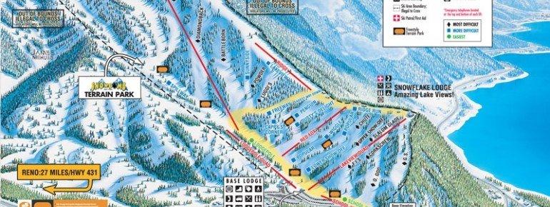 Trail Map Diamond Peak