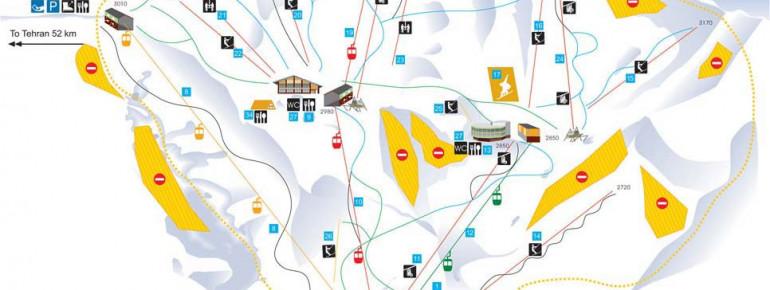 Trail Map Dizin