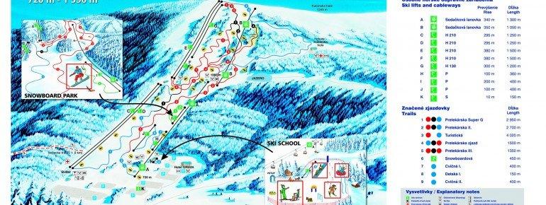 Trail Map SKI PARK Kubínska hoľa