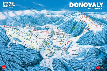 PARK SNOW Donovaly winter map