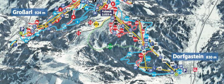 Trail Map Dorfgastein Grossarltal