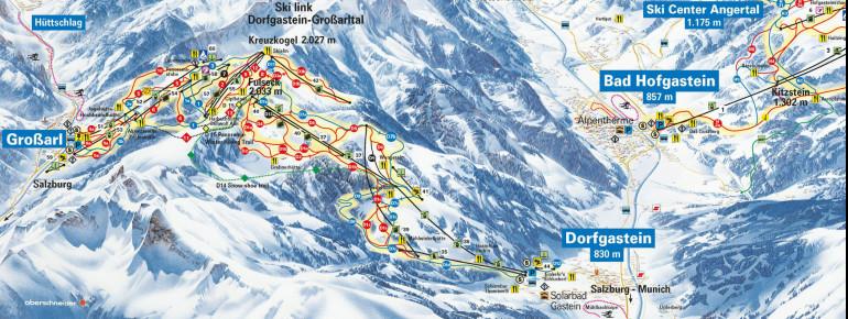 Trail Map Dorfgastein - Grossarl