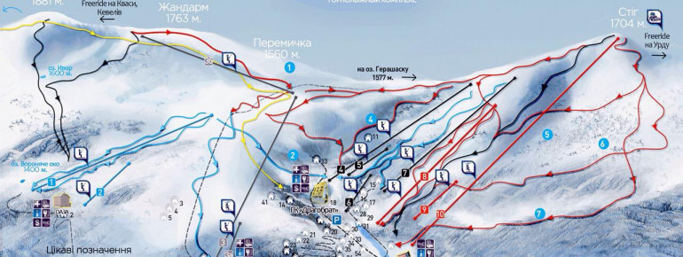 Trail Map Dragobrat