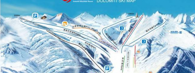Trail Map Duolemeidi Mountain Resort - Chongli