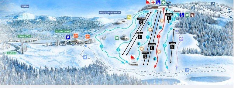 Trail Map Dziwiszow Lysa Gora