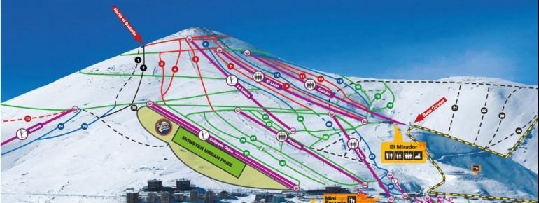 Trail Map ski resort Caldera