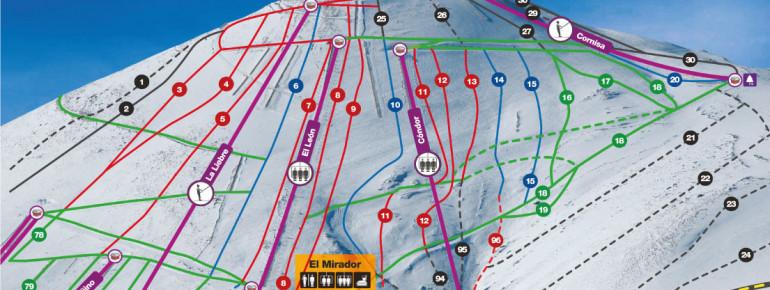Southwest Face Trail Map