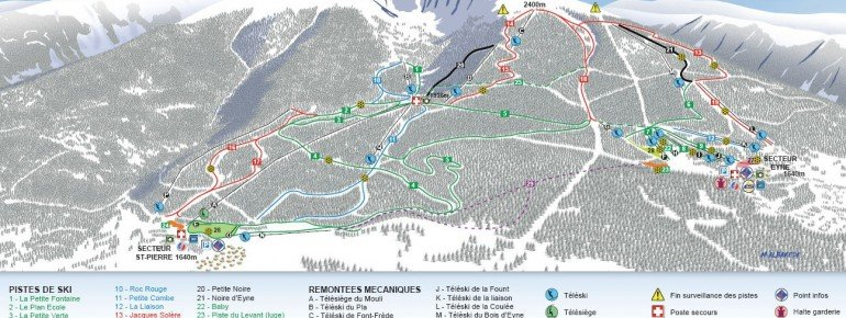 Trail Map Eyne Cambre d Aze