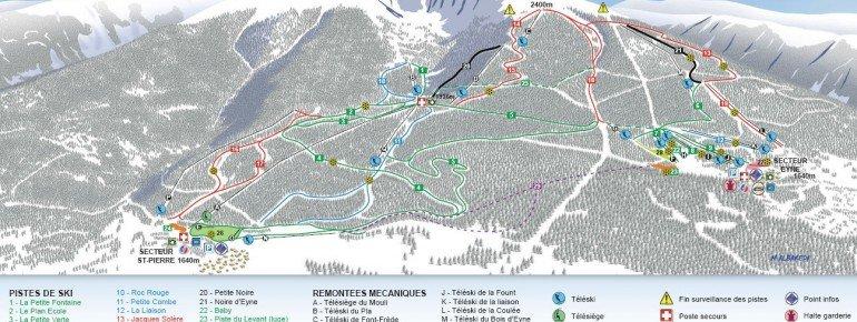 Trail Map Eyne Cambre d'Aze