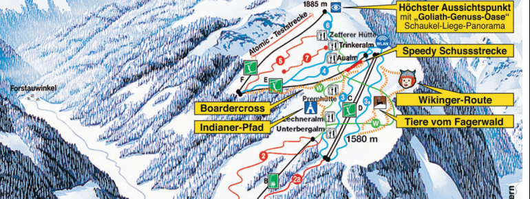 Trail Map Fageralm Bergbahnen