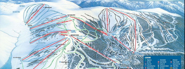 Trail Map Falls Creek